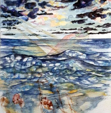 Aquarell_Sea and Roots and Sky nach Stonehenge_ 24 x 17 cm
