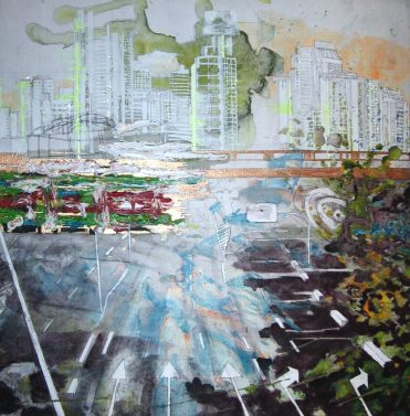 Stadtansicht Pfeile/ city view arrows, 2010, 60 x 55 cm, Privatbesitz/ privately owned