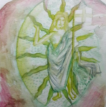Transzendenz/ transcendence, 24 x 17 cm, 2016, Aquarell auf Papier/ watercolour on paper