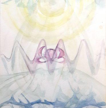 divine feminine aquarell